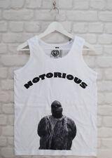 Brooklyn Zoo BIG Biggie Notorious Blanco Retro Hip Hop Singlet Camiseta