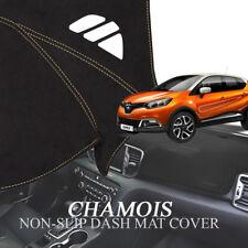 Chamois Non Slip Dash Board Mat Stitch Sun Cover for RENAULT 2014-18 Captur QM3
