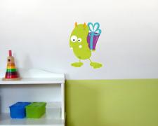 Grünes Geburtstagsmonster Wandtattoo Kinderzimmer bunt  4 Größen