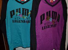 Puma Girls Longsleeve Top  Size S M L or XL NWT Purple or Blue