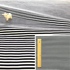 MONOCHROME BLACK WHITE Meter/Fat Quarter/FQ 100% Cotton Fabric Sew 4mm STRIPES