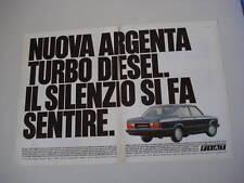 advertising Pubblicità 1983 FIAT ARGENTA TURBO DIESEL