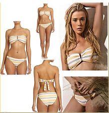 $173 L Space 2pc Indian Summer Adia Bandeau Top & DeJa Vu Bottom Bikini Set