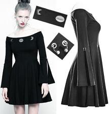 Robe jupe corset bretelle gothique punk lolita évasé tête de mort métal Punkrave
