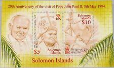 Solomon salomon isl. 2004 bloque 93 S/s 970 visit Pope John Paul II, el papa mnh