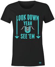 """""""LOOK DOWN"""" Women/Juniors T-Shirt to Match Air Retro 12 """"HYPER JADE"""" GS"""