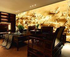 3D Goldene skulptur von Lotus Fototapeten Wandbild Fototapete BildTapete Familie
