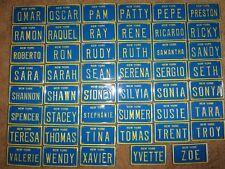 Vintage New York Mini Bike Bicycle Vanity Metal License Plate Sign Omar - Zoe