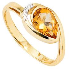 ANELLO DONNA 14 CARATO (585) ORO GIALLO BICOLORE 1 QUARZO CITRINO diamantenring