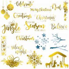 Christmas Greetings Jingle Bell Hot Foil Plate Scrapbooking Stencil Craft Emboss