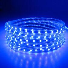 SMD3014 LUZ CINTA TIRA FLEXIBLE LED AC220V 60 LED/M IMPERMEABLE - AZUL