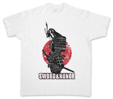 SWORD & HONOR T-SHIRT Samurai Ninja Japan Warrior Sword Seppuka Dakana Armor