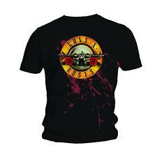 Men Guns n Roses Bullet Logo Slash Axl Rose Licensed Tee T-Shirt Men