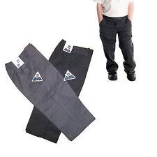 Teflon pull up pantalon moitié élastique toutes tailles new school uniform garçons enfants