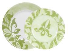 1 Corelle Ultra cheverry cholce: cena o comida Plato Verde Caqui Blanco Floral