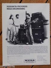 retro magazine advert 1983 MESA BOOGIE