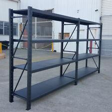 4.0M Metal Warehouse Racking Storage Garage Shelving Shelf Shelves - Matte Black