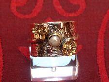 Designer Ring - mit Perle & Blüten - Sterling Silber - 925 - EDEL Antique Design