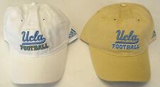 NCAA UCLA Bruins Football Adidas Cap Hat Buckle-Back Curve Brim OSFA NEW!!