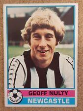 Topps Chicle 1977/78 futbolista (rojo espalda) Newcastle United-Varios