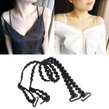 1 pair Women Nonslip Adjustable Bra Strap Cross Shoulder Holder Elas as