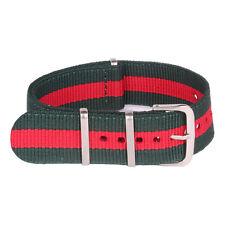 16mm 18mm 20mm 22mm 24mm Red Stripe Nylon Watch Strap Wristwatch Band Watchband