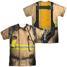 Trevco Originals Firefighter Costume Front Back Licensed Sublimation Adult T Shi