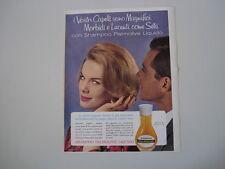 advertising Pubblicità 1962 SHAMPOO PALMOLIVE