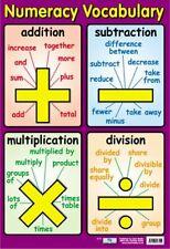 New Numeracy Vocabulary Talking Maths Mini Poster
