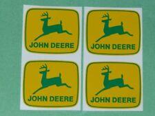 4 JOHN DEERE 2 inch 2-leg Green Deer on Yellow Computer Cut DECALS  J1947