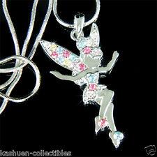 w Swarovski Crystal Fairy Tinker Bell ~Rainbow TINKERBELL Angel Pendant Necklace