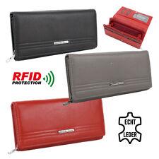 Echt-Leder Geldbörse groß Damen Portemonnaie Geldbeutel Frauen mit RFID Schutz !
