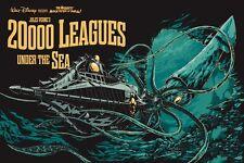 20 000 lieues sous les mers Jules Verne Steampunk 1954 l'affiche de film réimpression A3