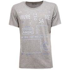 5165V  maglia uomo OBVIOUS BASIC BY PAOLO PECORA grey t-shirt men