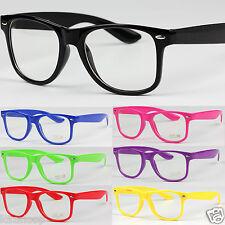 Mens Womens Square  Clear UV400 Lens Glasses Vintage Geek Nerd Fashion