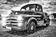 STUNNING RETRO CLASSIC CAR CANVAS #116 VINTAGE DODGE A1 A3 CANVAS CAR PICTURES
