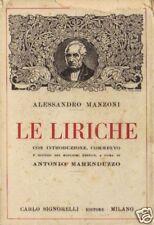 Alessandro Manzoni # LE LIRICHE # Signorelli 1945