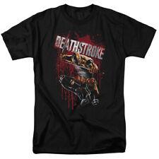 Deathstroke Blood Splatter T Shirt Licensed Comic Book Tee Black