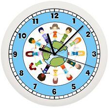 Children Around The World Wall Clock Teacher Classroom Kids Students School