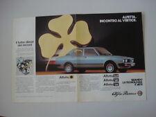 advertising Pubblicità 1983 ALFA ROMEO ALFETTA QUADRIFOGLIO ORO