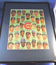 1969 Chicago Cubs Official Team Photo Art Autograph Facsimilies Mat Frame Option