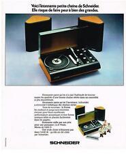 PUBLICITE   1974    SCHNEIDER chaine steréo AGE 81