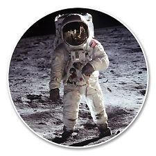 2 x 10cm Astronaut Vinyl Sticker Luggage Travel Tag Space NASA Laptop Moon #6234
