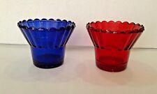 "Vigil Oil Lamp Glass Cup 6.7cm - 2.6"" Red/Blue"