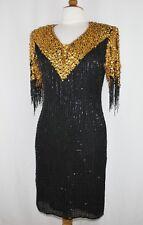 Jasdee Vintage Short Dress Hand Work Beading Short Sleeve  On Silk Style 5017
