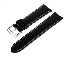 Uhren Lederarmband Echtleder Schwarz LLB 70 Glattleder Armband Leder Weiß