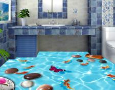 3D Belle Lac Fond d'écran étage Peint en Autocollant Murale Plafond Chambre Art