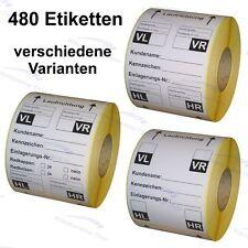 Reifenetiketten für Einlagerung - 100 x 150 mm - 480 Stück -Rad/Reifen Aufkleber