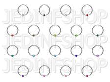 BCR Hoop CBR - 1.0mm (18g) - 12mm - Single Gem - Steel - Ball Closure Ring