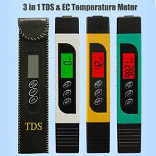 Digital Electric TDS EC Temperature Meter Tester Hydroponics Water Test Pen